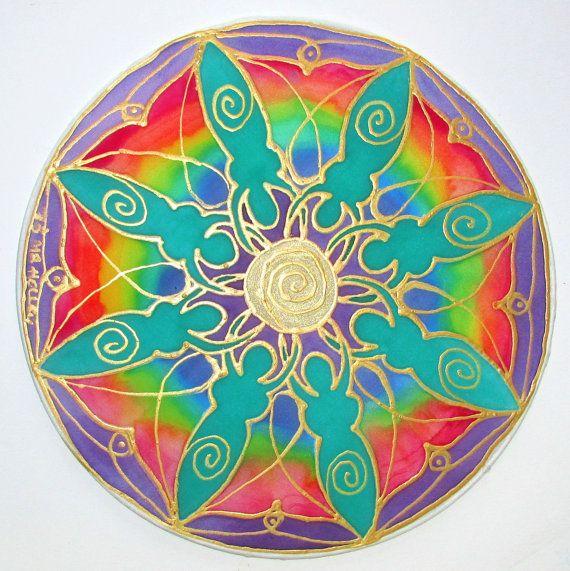 regenboog godin mandala kunst, spirituele cadeaubon, mandala kunst, kunst van de godin, chakra kunst, pagan, Wicca, sjamanistische-, spirituele-, metafysische