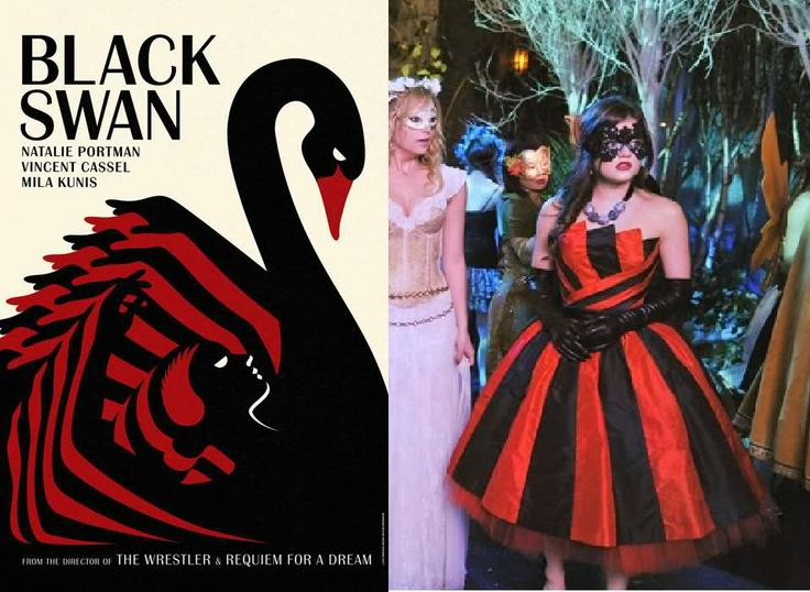 "In the ""Aria is A"" theory this the one clue that sticks out to me. Aria's dress is a reference to the Black Swan. This show is about a young ballerina who is trying to be cast in a show, the director wants a girl who can be as innocent and lovely as the White Swan (which is Aria as we know her); and a girl who can be dark and multiplicative as the Black Swan (Aria's alternate personality). She goes crazy  without anyone knowing at first. This is the also the episode where Maya is murdered."