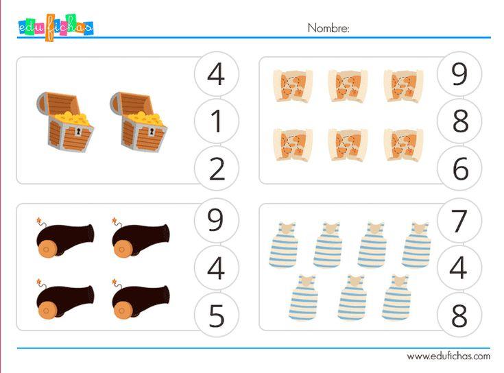 cuantos hay piratas  #piratas #fichas #actividades #niños #ejercicios #educacion  http://www.edufichas.com/actividades/recursos-educativos/cuantos-hay/cuantos-dibujos-piratas/