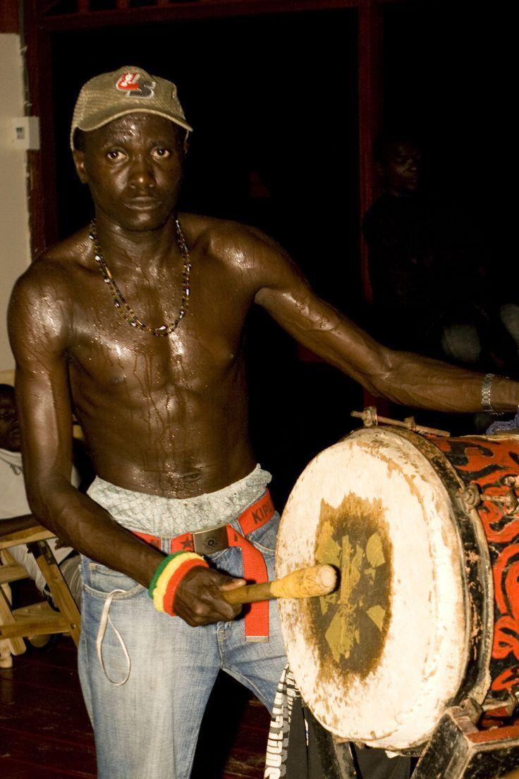 Suriname. Maroon musician.