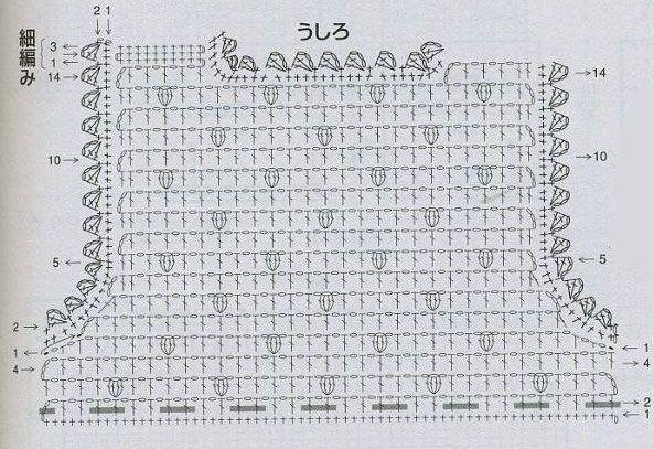 Схема кокетки сарафана-туники. спинка.