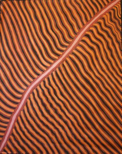 Gloria Petyarre  Awelye  1995  synthetic polymer paint on linen  122 x 153 cm  $3,200 AUD