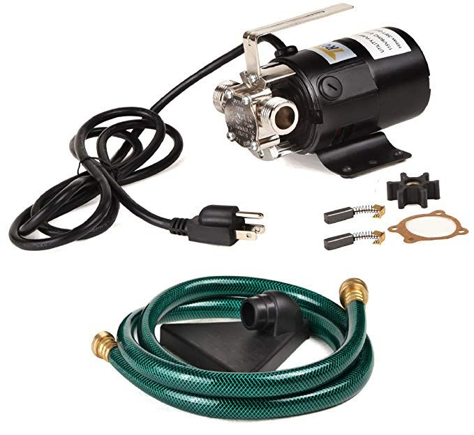 Trupow 1 10hp 330gph 115 Volt Mini Portable Electric Utility Sump Transfer Water Pump With Water Hose Kit Electric Water Pump Water Pumps Sump