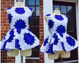 Ankara Peplum Laide Blouse by MisiAfriqueBoutique on Etsy