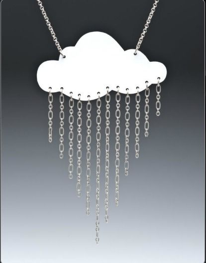 DIY: Raining Cloud Necklace - with shrinky dink