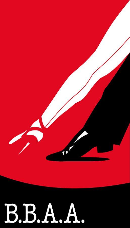 Afiche diseñado por Roberto Concha Pierry para la inauguración de un café argentino en  Santiago de Chile.
