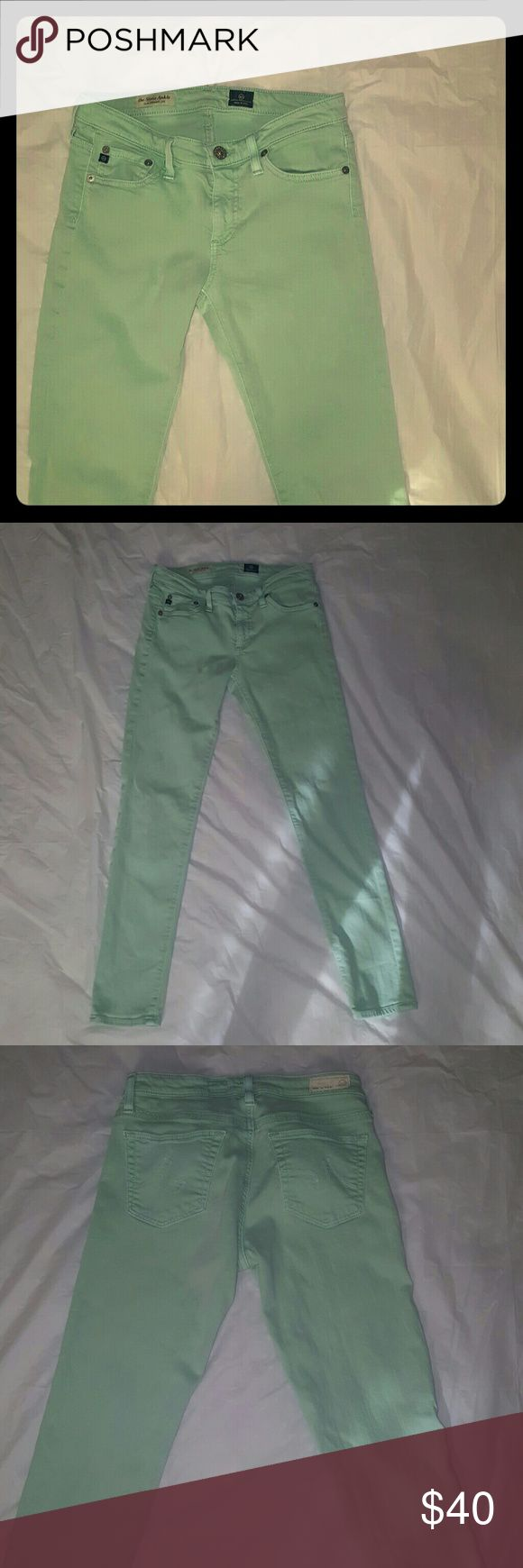 AG Mint The Stevie Ankle No holes or stains. Mint Green. Slim, straight leg. Size 26R. AG Adriano Goldschmied Jeans Ankle & Cropped