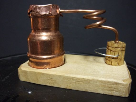 whiskey still copper moonshine still by WoodcarvingByMike on Etsy, $10.00
