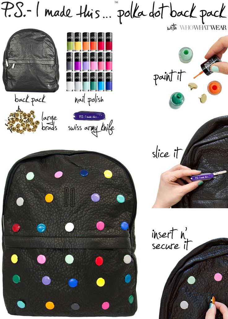 Graphic, colorful, and tasty as a gumball - if your eyes are peeled for trends in the art  fashion world, you're probably seeing spots. The Row x Damien Hirst collaborated on a series of limited edition backpacks that fuse sweet n' sassy colors with the edginess of black leather and gold. But their jaw-dropping retail price (55k!) begs the question…why pay the price of a work of art when you can create your own? This week's DIY, with WhoWhatWear, stands for Dot-It-Y
