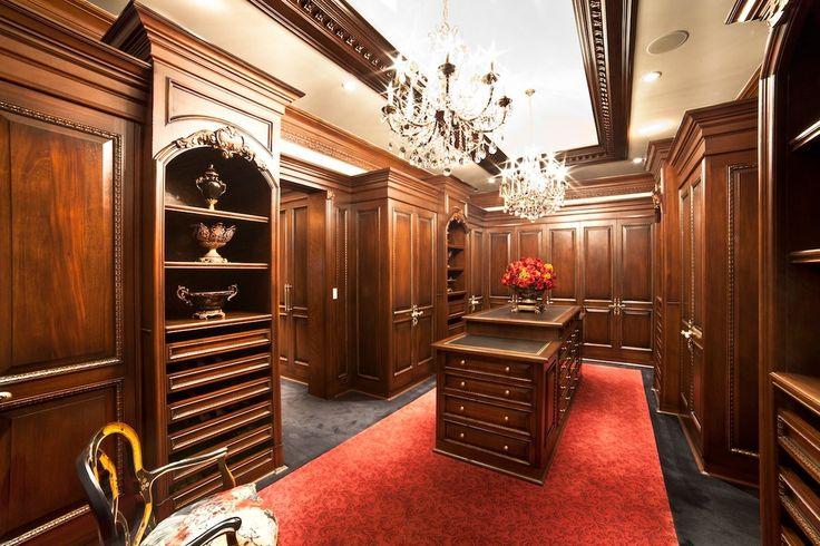Traditional Closet with Custom closet storage, Jane seymour pink & white roses 15h in. silk flower arrangement, Chandelier