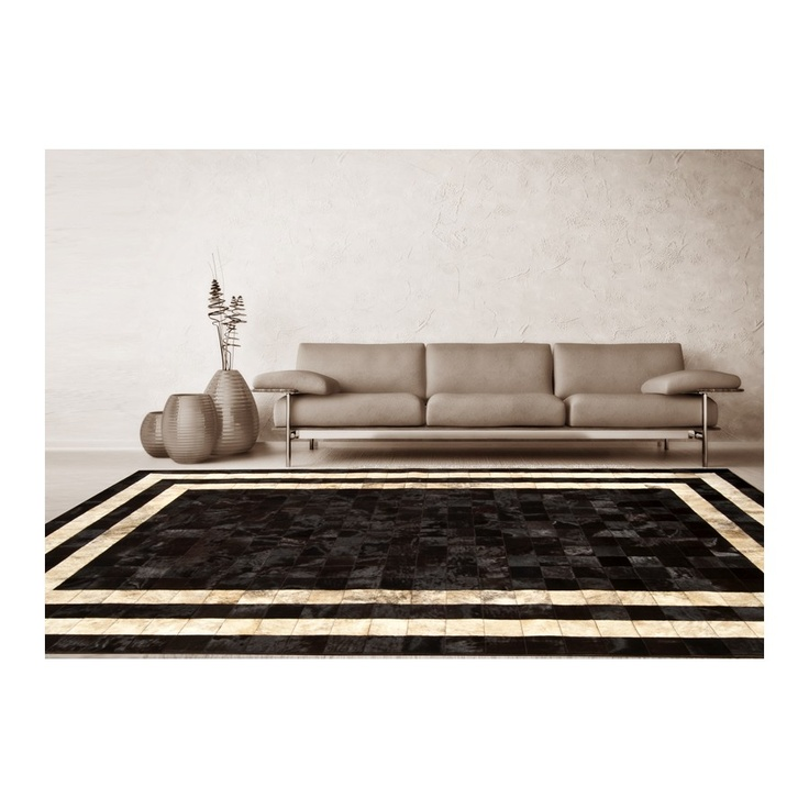 patchwork cowhide rug k-1773 mosaik testa di moro horsy double line - light beige ORDER HERE: http://www.furhome.gr/store/patchwork-cowhide-rug-k1773#
