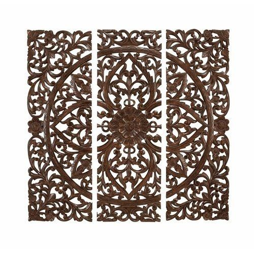 Moroccan Wood Panels Wall Art | ... Benzara Set of 3 Hand Carved Wood - 35 Best Wood Images On Pinterest Wood Art, Carved Wood And Home