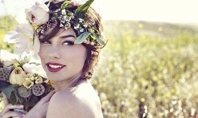 boho, woodland, beauty, flowers, hair, makeup, hippie, beautiful, flower, bride