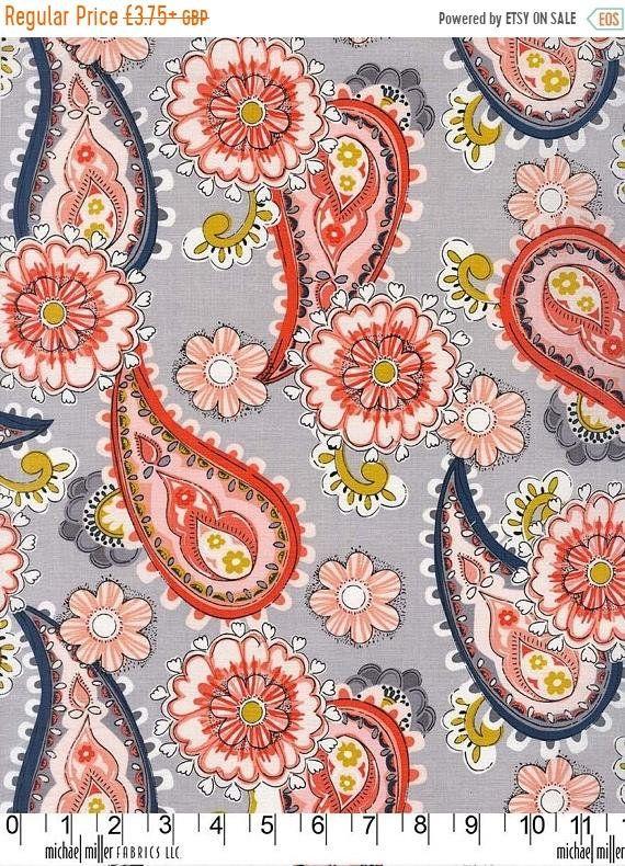 100% Cotton Fabric, Daisy Paisley - Daisy Paisley by Michael Miller