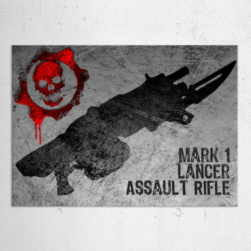 15% OFF on any order placed this week with code: october15. Mark 1 Lancer Assault Rifle Poster  #gearsweapon #marcus #rifle #gamer #gaming #gifts #lancer #homedecor #homegifts #sales #save #discount #kids #family #home #geek #videogame #games #art #pinterest #posters #giftsforher #giftsforhim #shopping #online #displate #39 #style #gears #war