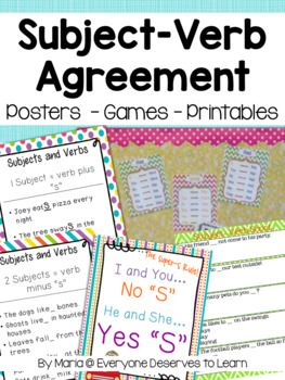 2nd Grade Synonyms Worksheets Pdf Best  Subject Verb Agreement Ideas On Pinterest  Plural Of  Easter Worksheet Activities with Number Sense Worksheets Word Subject Verb Agreement Posters Games And Printables Free Rhyming Words Worksheets Word