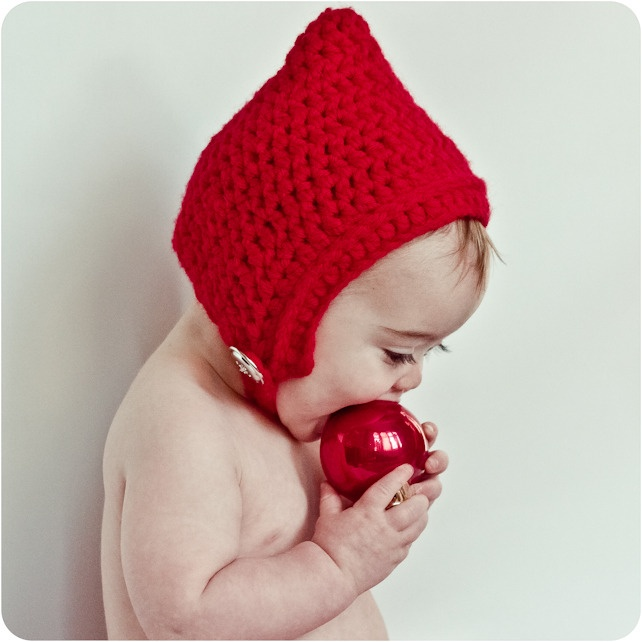 Baby Gnome: Gnome Pixie Elf Crochet Hat For Baby Child Toddler