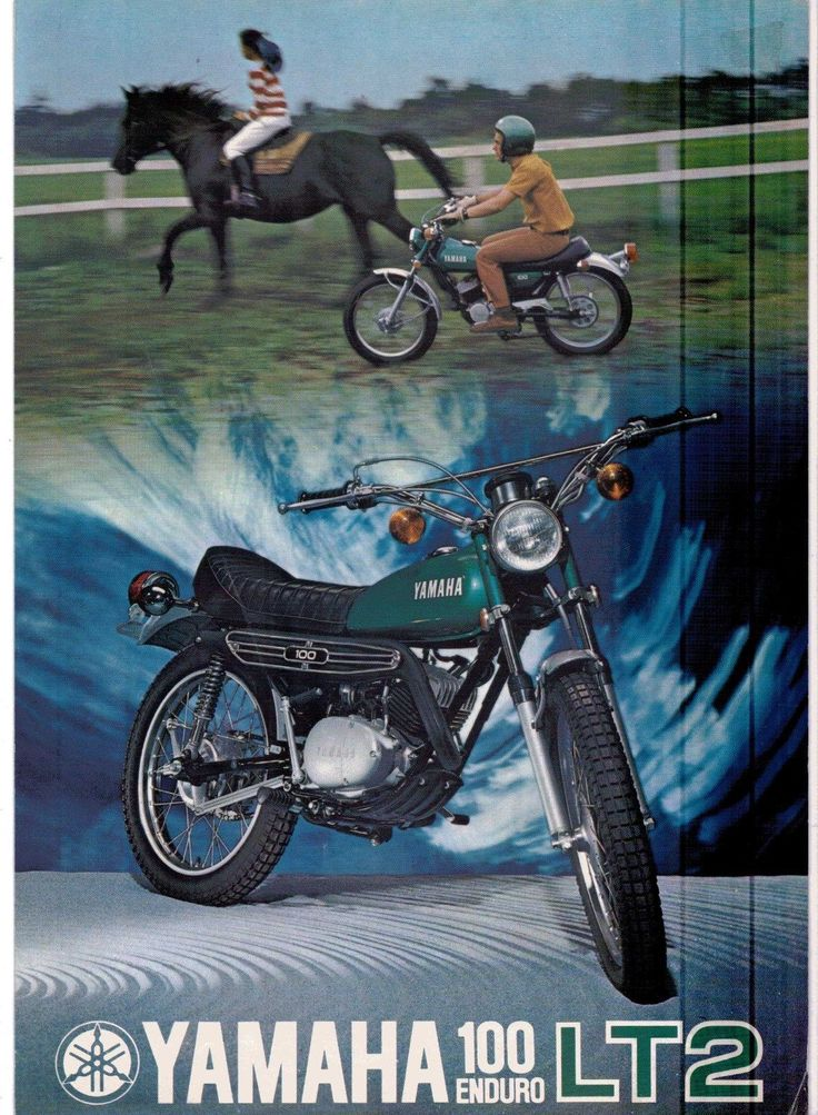 1972 Yamaha 100 Single Enduro LT2 Factory Original Sales Brochure Reprint $7 | eBay