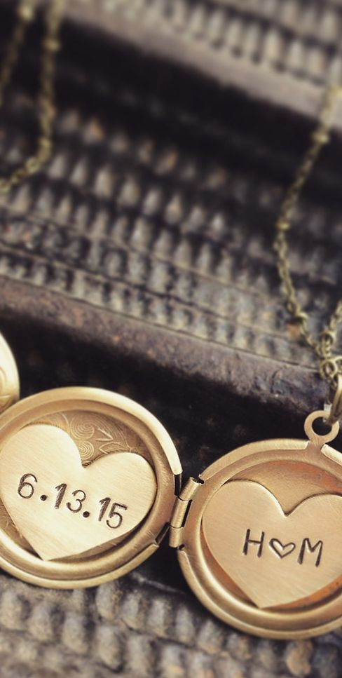 Custom Initials & Date Locket Necklace