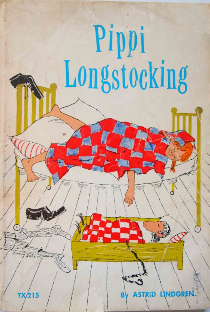 Pippi Longstocking :)  i had this very same book!