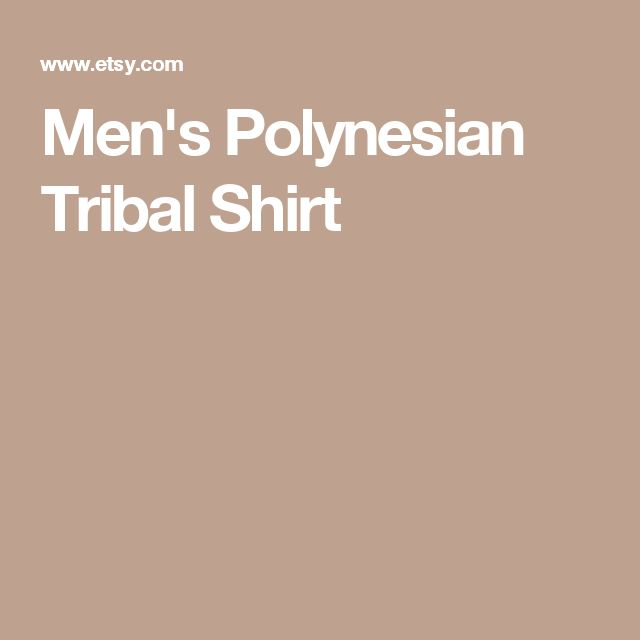 Men's Polynesian Tribal Shirt