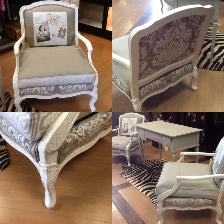 Custom French Chairs. Two-of-a-Kind. Artist: Refinery54 $449 each.