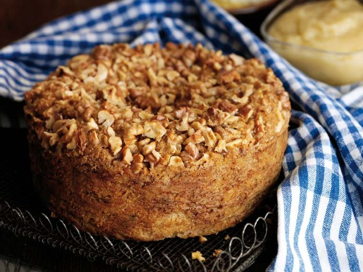 A fruity spiced apple and olive oil cake from Michelin-starred Yorkshire chef Frances Atkins.