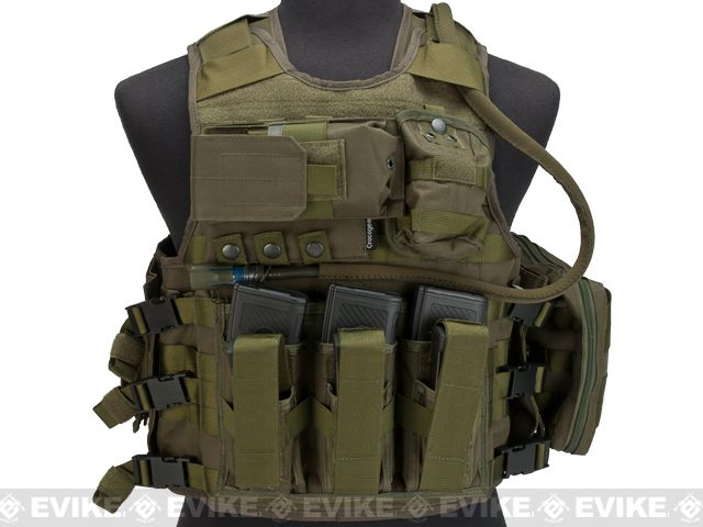 Crocogear Tactical MEA Tactical Molle Assault Vest - OD Green, Tactical Gear/Apparel, Body Armor & Vests, OD / Green - Evike.com Airsoft Superstore