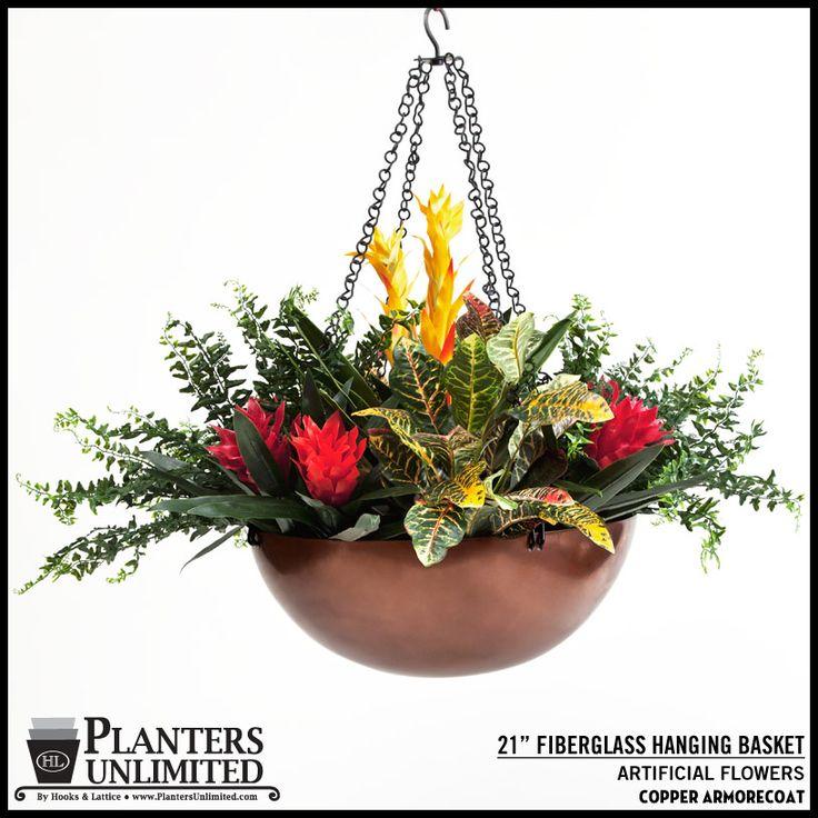 """21"""" Copper Hanging Basket"""