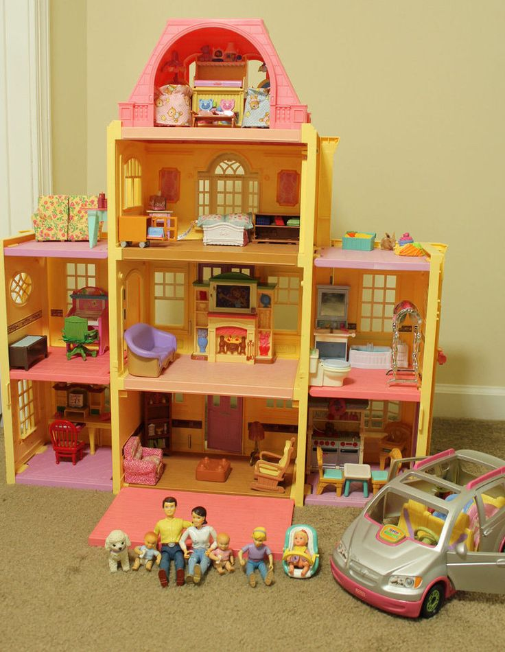 fisher price loving family grand mansion dollhouse people furniture accessories fisherprice. Black Bedroom Furniture Sets. Home Design Ideas