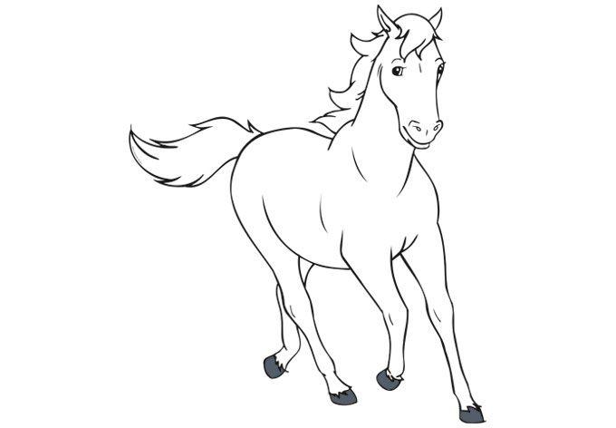 bibi und tina ausmalbilder pferde 03  ausmalbilder pferde