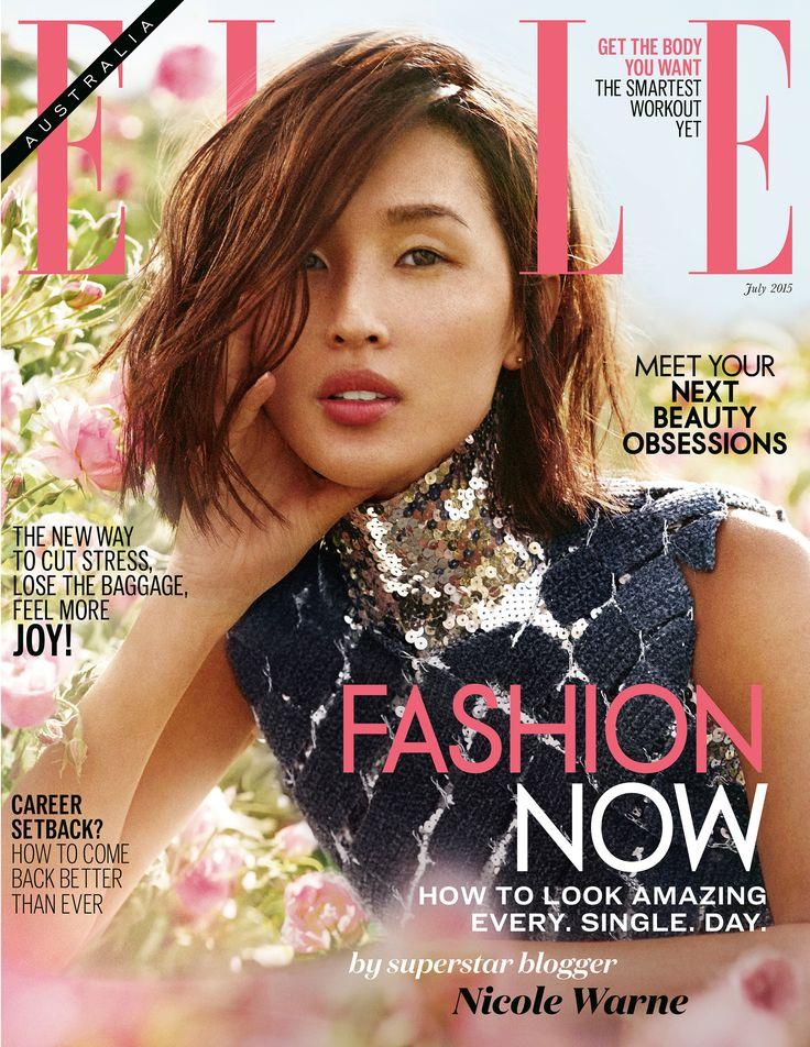 Nicole Warne by Mario Sierra for Elle Australia July 2015 cover - Dior