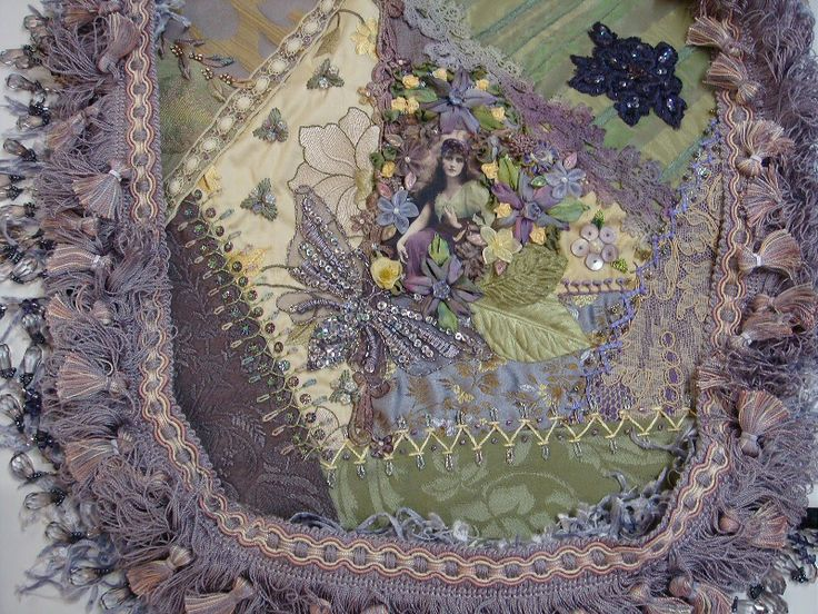 I ❤ crazy quilting, beading & ribbon embroidery . . . Maureen's Boho Finished. Just like all my CQ projects, it becomes what it is supposed to and I don't have a clue until it is finished. ~By Pat Winter