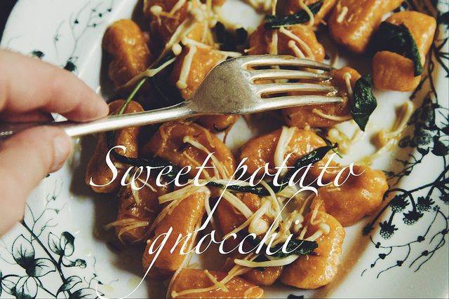 ... -scented Sweet Potato Gnocchi with Enoki and Sage & Butter Sauce