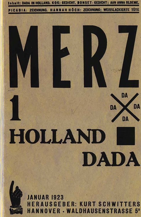 Merz. Issue 1. One of the most beautiful periodicals ever designed, Merz was published and designed by Kurt Schwitters