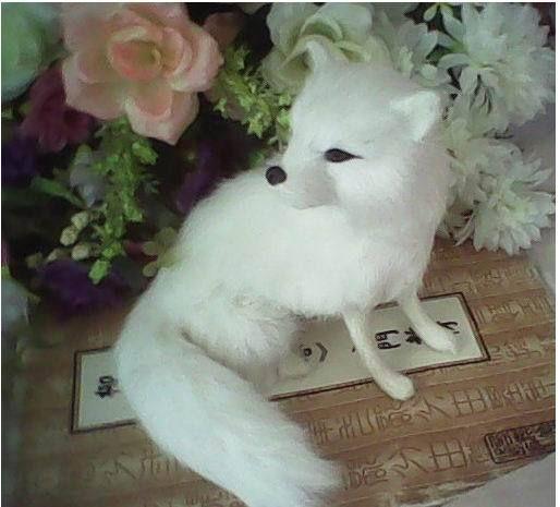 Морозный узор 16 * 15 * 15 см моделирование лиса наполненный игрушки плюш животные день рождения подарок уникальный игрушки для детей для дома декор купить на AliExpress