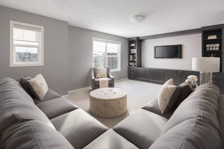 Second floor family room in Shane Homes' Tofino II Showhome in Redstone in northeast Calgary #familyroom #bonus room