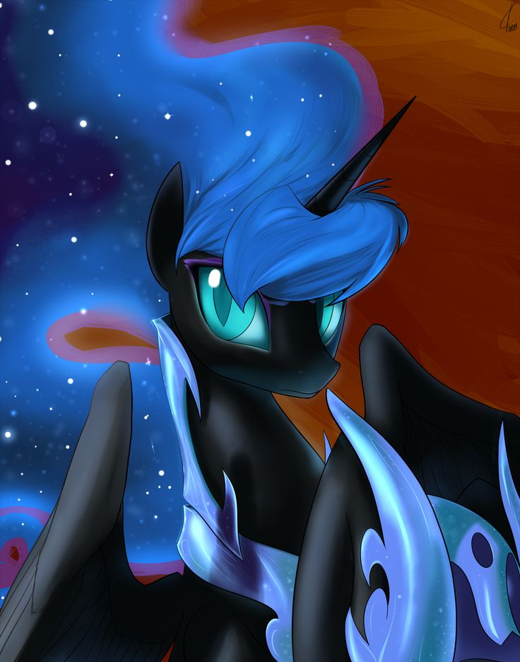 Take off your helmet, Nightmare Moon. by Dreatos.deviantart.com on @deviantART