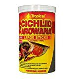 TROPICAL Cichlid Arowana | 250ml | Aquarium Fish Foodby TROPICAL1950% Sales Rank in Pet Supplies: 353 (was 7239 yesterday)Buy: Rs. 450.003 used & new from Rs. 450.00 (Visit the Movers & Shakers in Pet Supplies list for authoritative information on this product's current rank.)