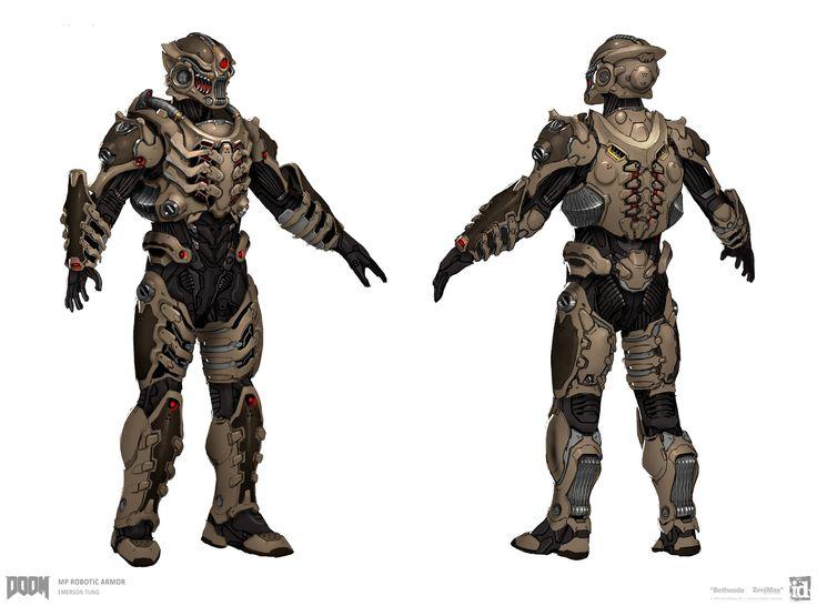 ArtStation - DOOM - MP Robotic Armor Set, Emerson Tung
