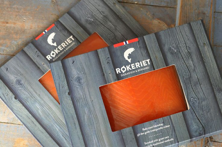 Packaging for the fish smokery Røkeriet in Bergen, Norway. Design: Hege Jørgensen.