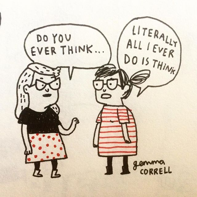Overthinking is my superpower. 💭#introvertproblems #sketchbook