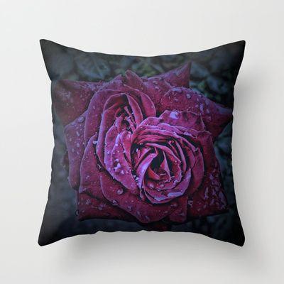 Purple Rose II Throw Pillow by AngelEowyn. $20.00