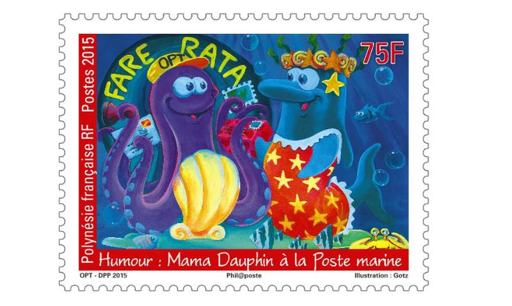 COLLECTORZPEDIA: French Polynesia Stamps Mama Dolphin Marine Station