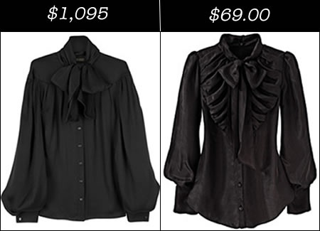black chiffon and silk bow tie blouses