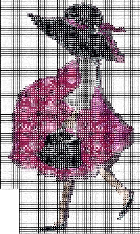 point de croix femme enceinte - cross stitch pregnant woman