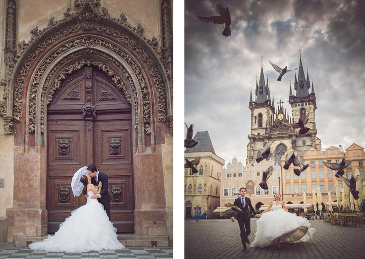 Pre Wedding Best of in Prague: The Old Town Square http://pragueweddingphotography.com
