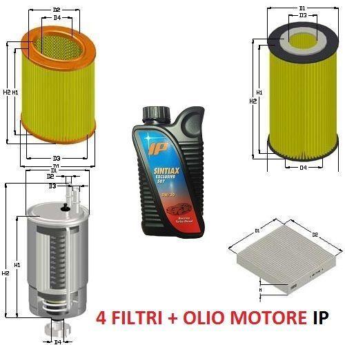KIT FILTRI +5LT OLIO ALFA 159 1.9 JTDM 115 120 136 150CV 939A7000 939A1000 09/05
