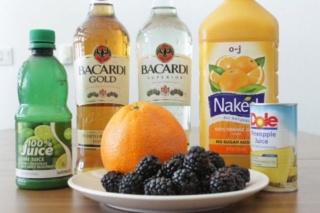 Black + Orange Rum Punch! this drink definitely has a tropical vibe.