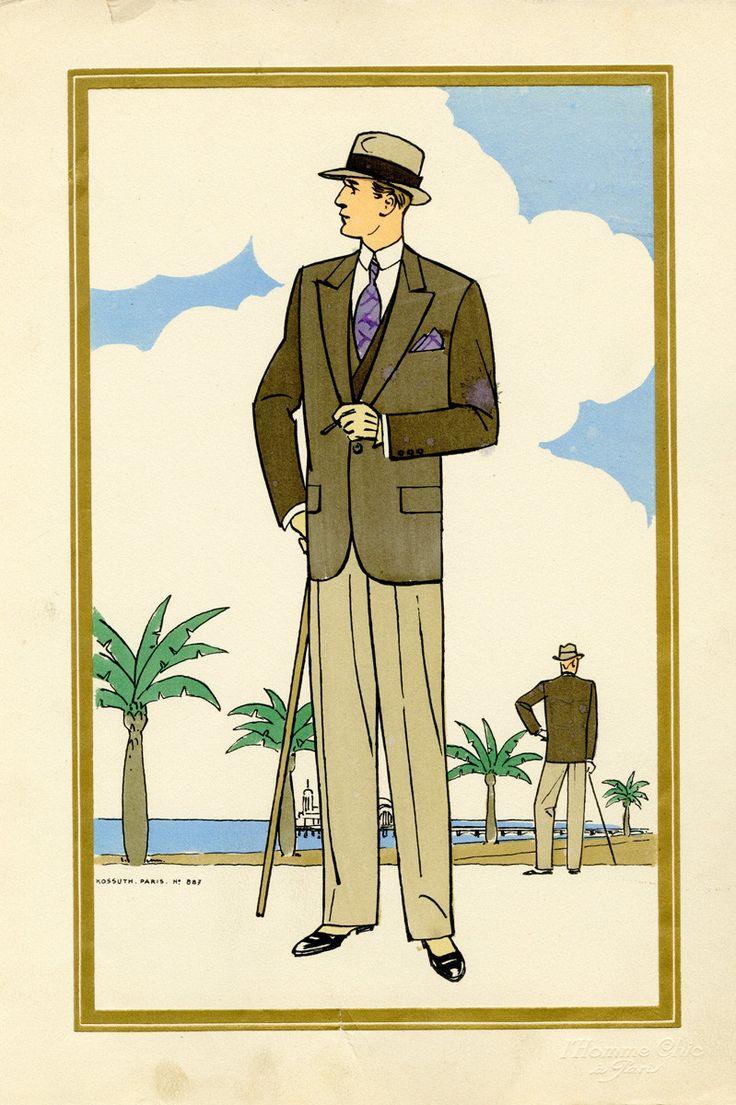 1920's men's fashion illustrations